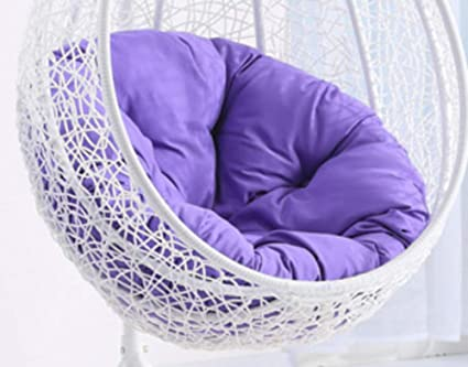 Amazing Msm Swing Chair Cushion Round Patio Garden Wicker Hanging Egg Rattan Chair Hammock Pad Indo Outdo Light Purple 105X105Cm Ibusinesslaw Wood Chair Design Ideas Ibusinesslaworg