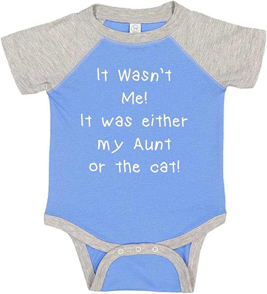 Toddler//Kids Raglan T-Shirt It Wasnt Me It was Either My Great-Uncle Or The Cat