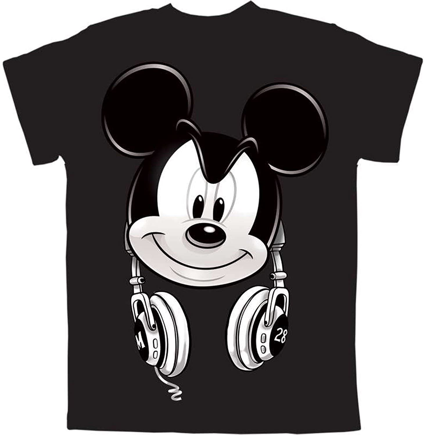 Mickey Mouse Headphones Boys Graphic T Shirt: Clothing