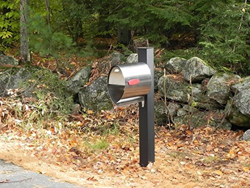 Post Mounted Mailbox Size: Large (17.5'' H x 10'' W x 18.25'' D), Color: Stainless Steel by Spira Mailbox (Image #1)