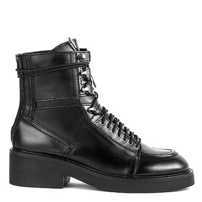 chaussures de sport 5f08e 939da Ash Bottes Motardes Femme - Noir - Noir, 38 2/3: Amazon.fr ...