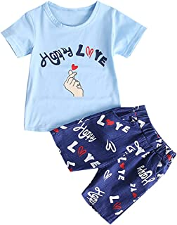 Neugeborene Baby Jungen Sommer Kleidung Kurzarm T Shirts Tops Lang Hose 2Tlg Set