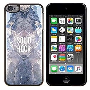 Solid Rock Diamond Sky Universo Cielo- Metal de aluminio y de plástico duro Caja del teléfono - Negro - iPod Touch 6
