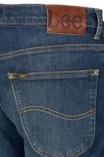 Lee Brooklyn Straight Hose Herren Jeans Denim Blau L452WPSN