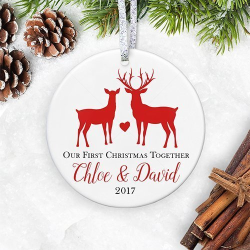 our 1st christmas together 2018 first christmas as boyfriend girlfriend ornament gift for new
