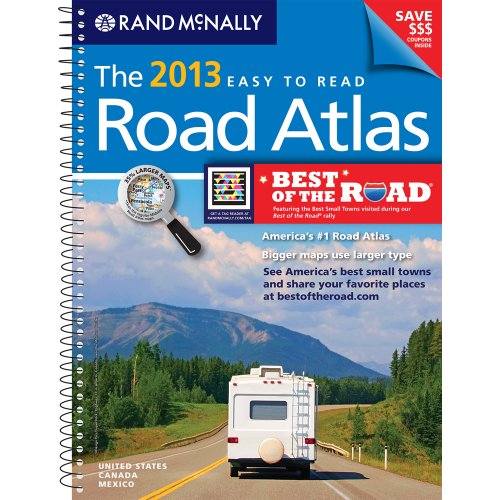 USA, Road Atlas, Midsize Easy To Read, Spiral Bound 2013 (Rand Mcnally Road Atlas Deluxe Midsize) (Rand McNally Midsize