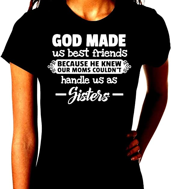Personalized jewelry God made us friends because he knew our moms couldn/'t handle us as sisters best friends cousins you complete me sale