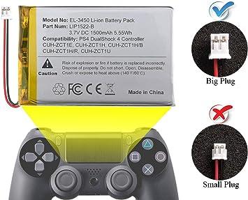 ElecGear 1x Batería de Repuesto para Controlador PS4 V1-3, Batería ...