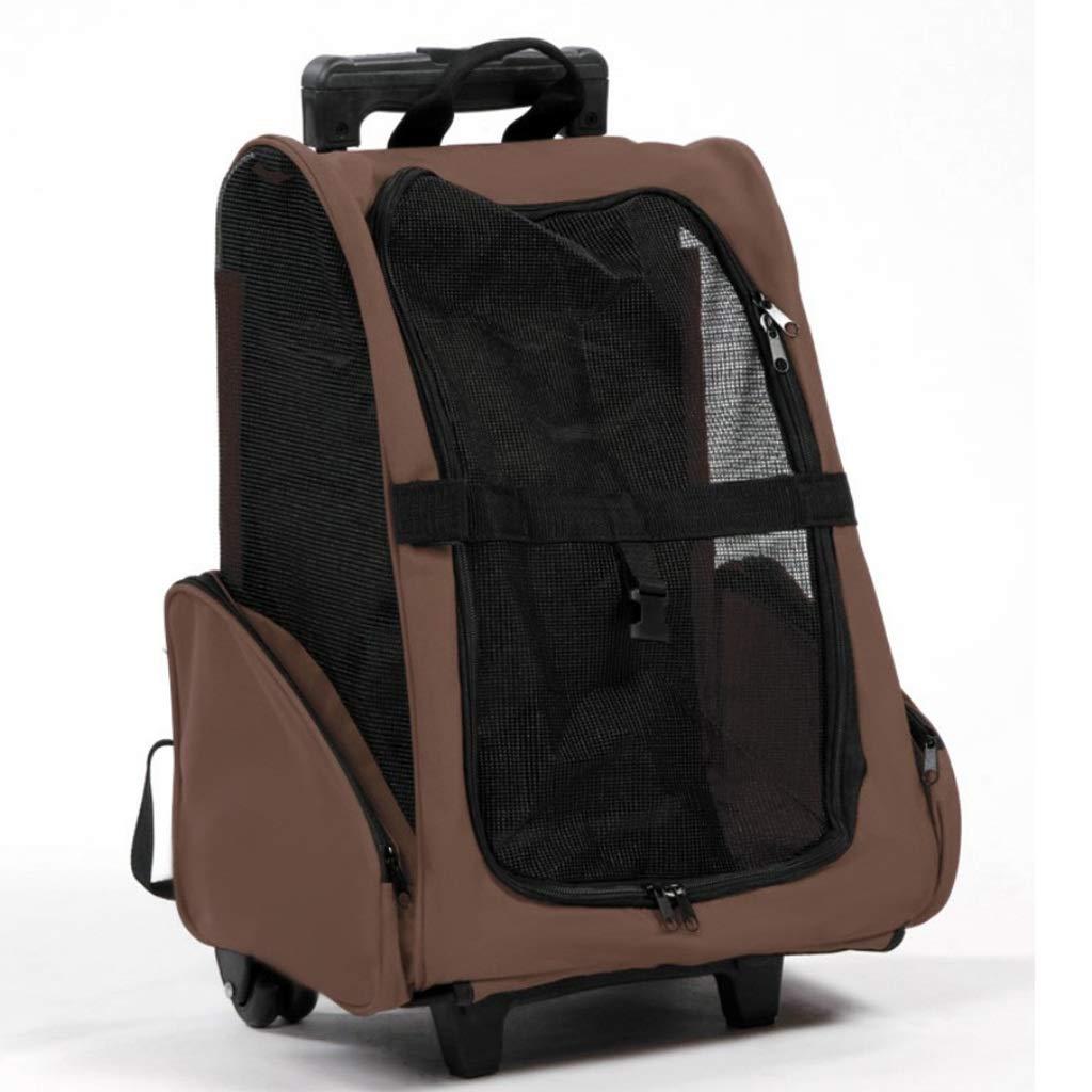 E Pet bag Cat bag Dog bag Pet backpack Pet outing bag Carrying case Travel bag Trolley case handbag Breathable Lightweight convenient (color   E)