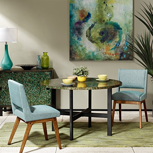 Mosaic Dining Green Table (INK+IVY Mosaic Round Dining Table)