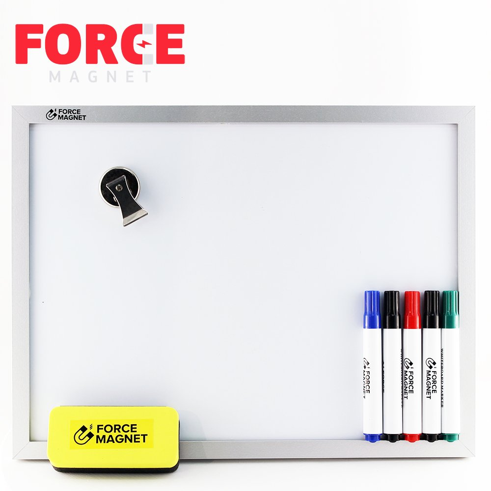 Magnetic 12 x 16'' Dry Erase Whiteboard. Includes 5 Dry Erase Markers, Assorted Colors.Magnetic Eraser Great for Fridge, Locker, and More 10 Seconds Super Easy Mounting System by FORCE MAGNET (Image #6)