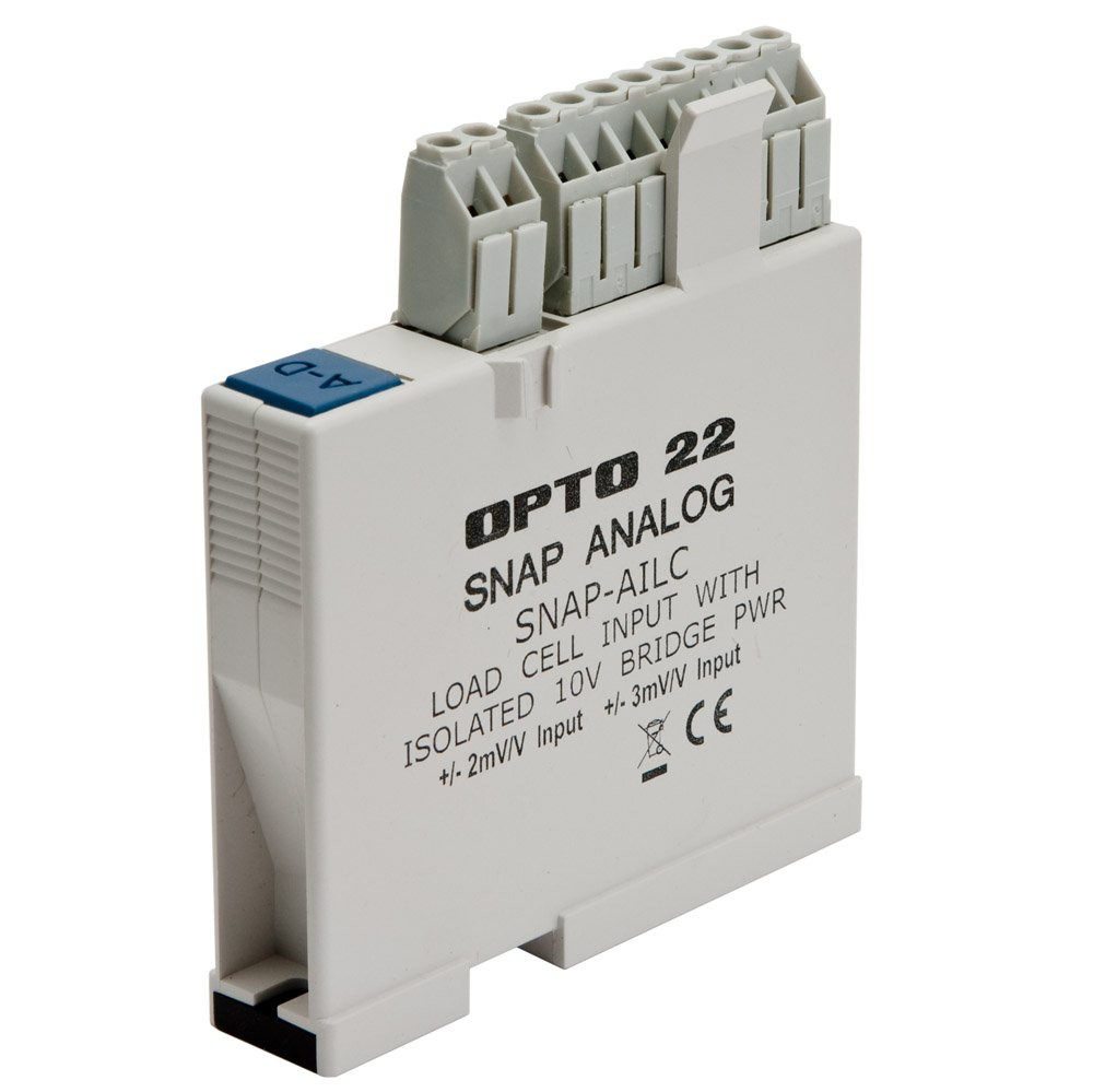 Opto 22 SNAP-AILC - SNAP Load Cell Input Module, 10 VDC Excitation, 2 or 3 mV/V Input Sensitivity