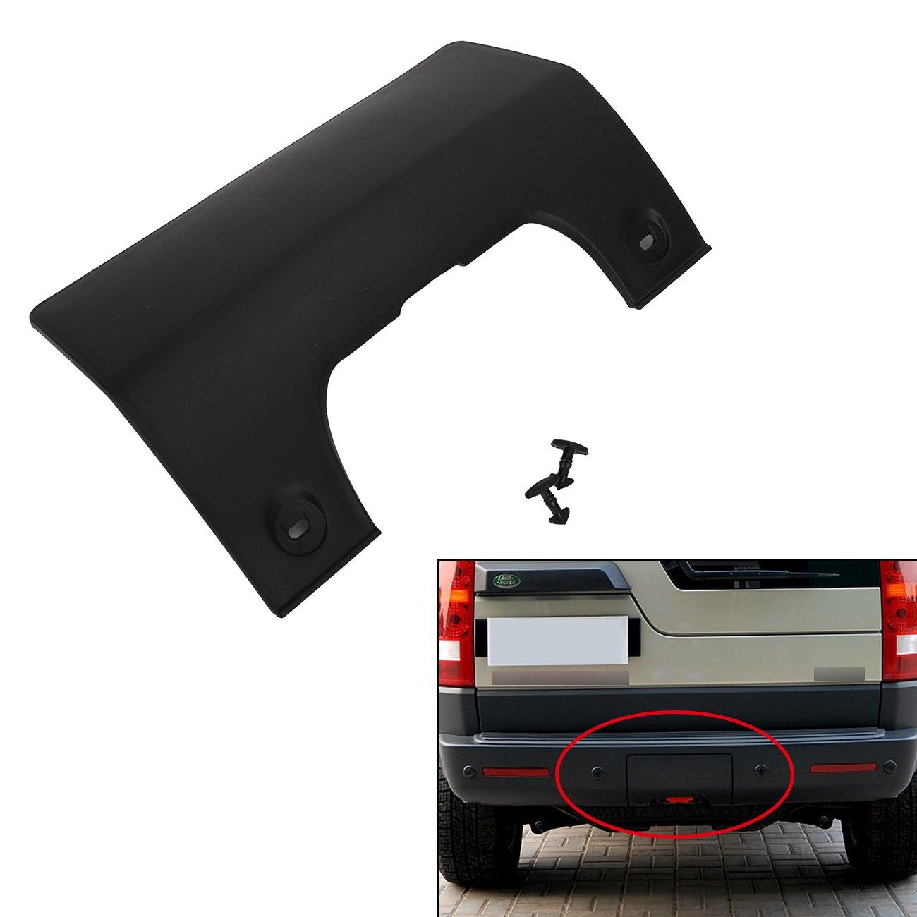 一般下塗りメガランドローバーlr3 2005 – 2009のフロントバンパー牽引牽引目カバーパネル(ブラック) Bumper Tow Hook B072JMFXBX  Rear Hook Tow Cover
