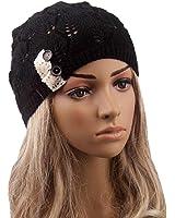 Start Women Hollow Leaves Knit Winter & Autnumn Cap Warm Hats Beret