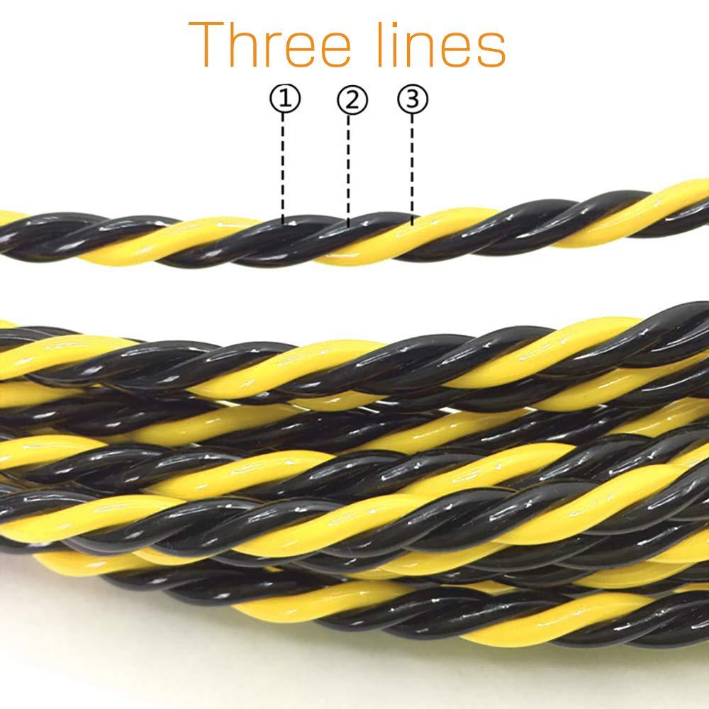 con muelle de gu/ía ideal para la colocaci/ón de cables Akuoly Guia pasacables Alambre retr/áctil en espiral de 25 m de poli/éster trenzado de 3 capas
