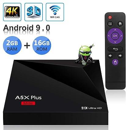 Sidiwen Android 9 0 TV Box A5X Plus Mini Smart Media Player 2GB RAM 16GB  ROM Rockchip RK3328 Quad Core Support 3D 4K Ultra HD H 265 HEVC WIFI 2 4G
