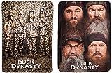 Duck Dynasty Camo Pose / 4-Faces Fleece Throw Blankets 46x60'' - Set of 2 - Brown