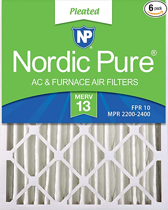 Nordic Pure 20x20x1 MERV 13 Pleated AC Furnace Air Filters 3 Pack