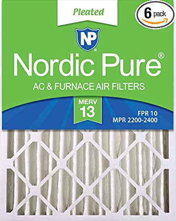 Nordic Pure 13x21/_1//2x1 Exact MERV 13 Tru Mini Pleat AC Furnace Air Filters 2 Pack