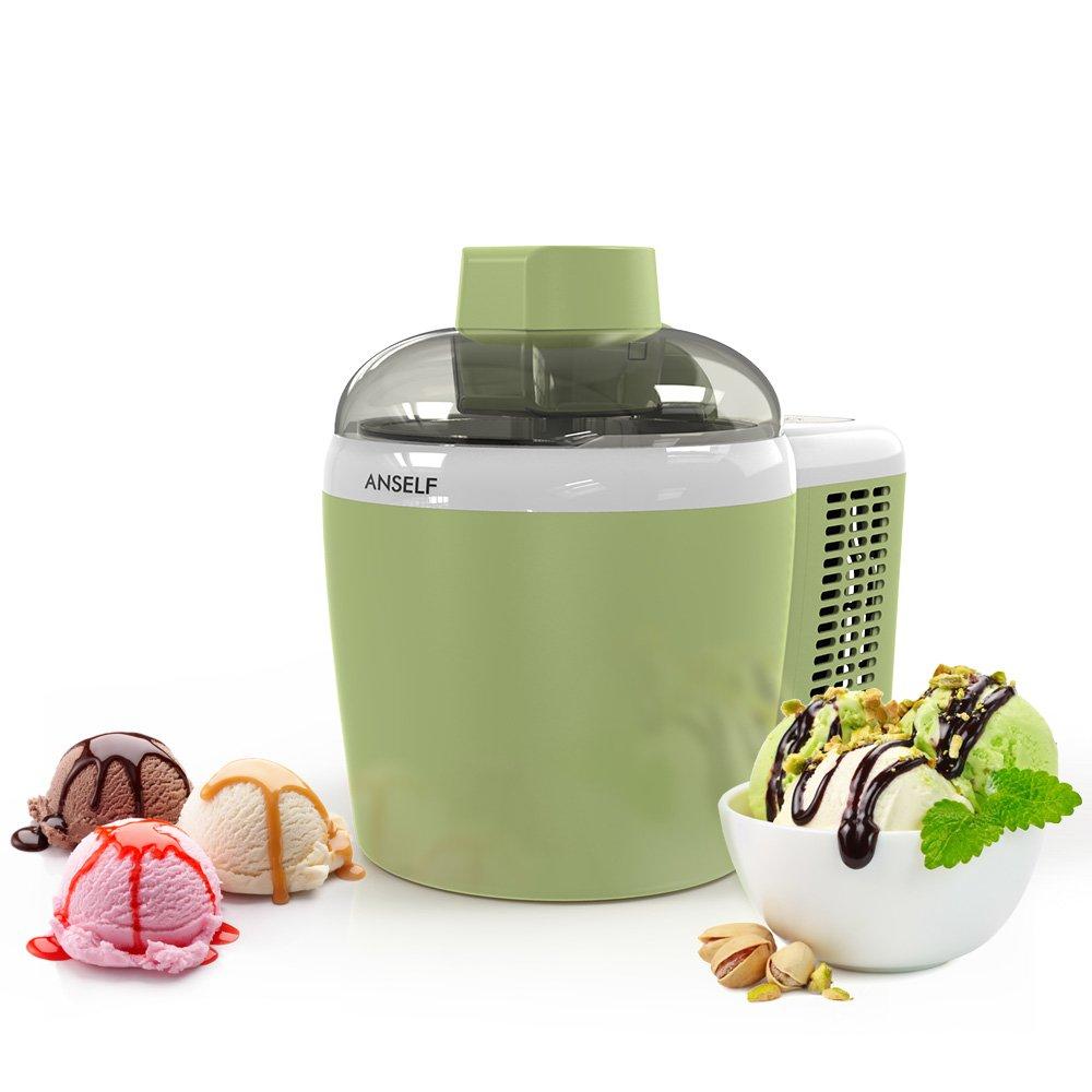 Anself Electrodoméstico Pint Auto Heladera Eléctrica Aplicar a Helados Yogur Congelado Gelato