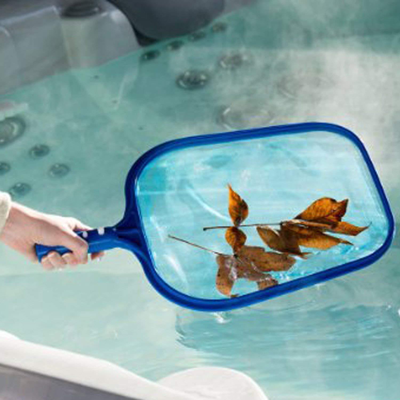 Teichen About1988 Kescher Pool Reinigung Blau Brunnen,Whirlpools Spas Schwimmbad Skimmer Set Leaf Net,Poolkescher//Schwimmbad Kescher Geeignet f/ür Spas Swimming Pool