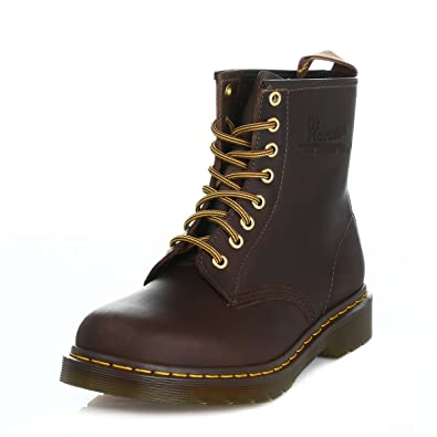 93fb492966a2e Dr. Martens 1460 Crazy Horse Unisex Aztec Brown Leather Ankle Boots-UK 13