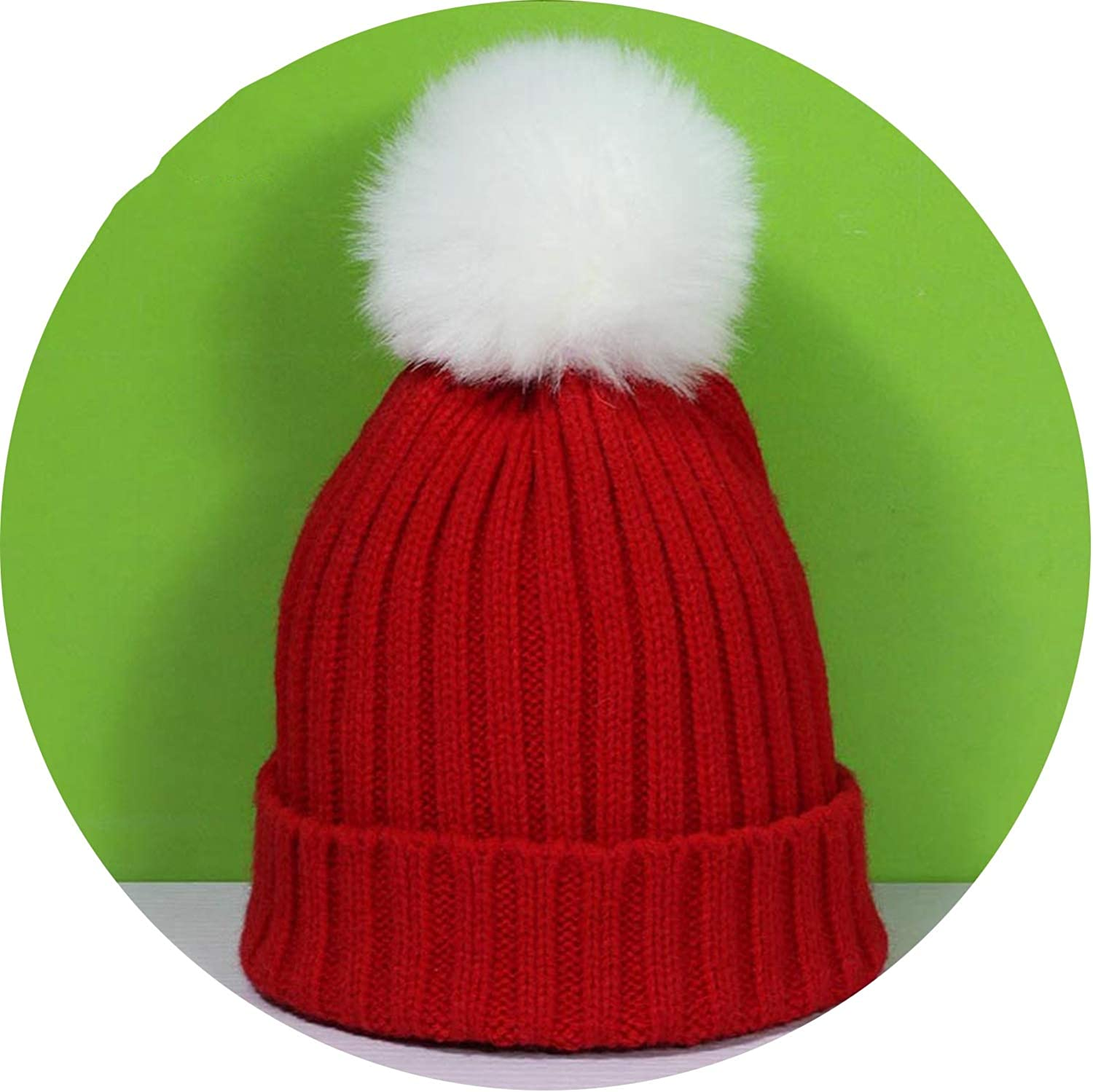Noon-Sunshine/&cap Childrens Knit Beanie Hat pom pom Winter Hat Boy Girl Warm Skullies Bone,