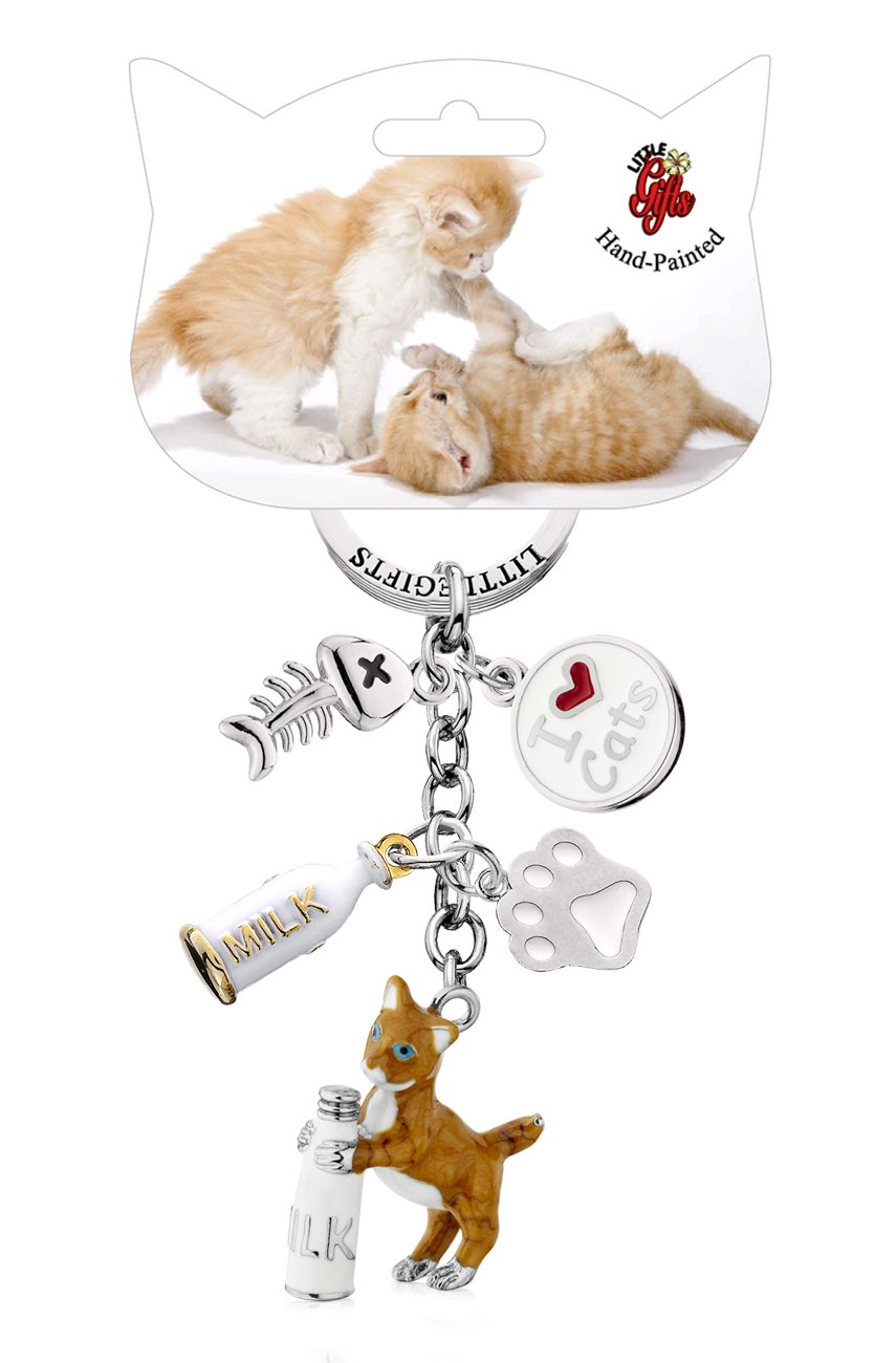 Amazon.com: littlegifts pintado a mano gatito & botella ...