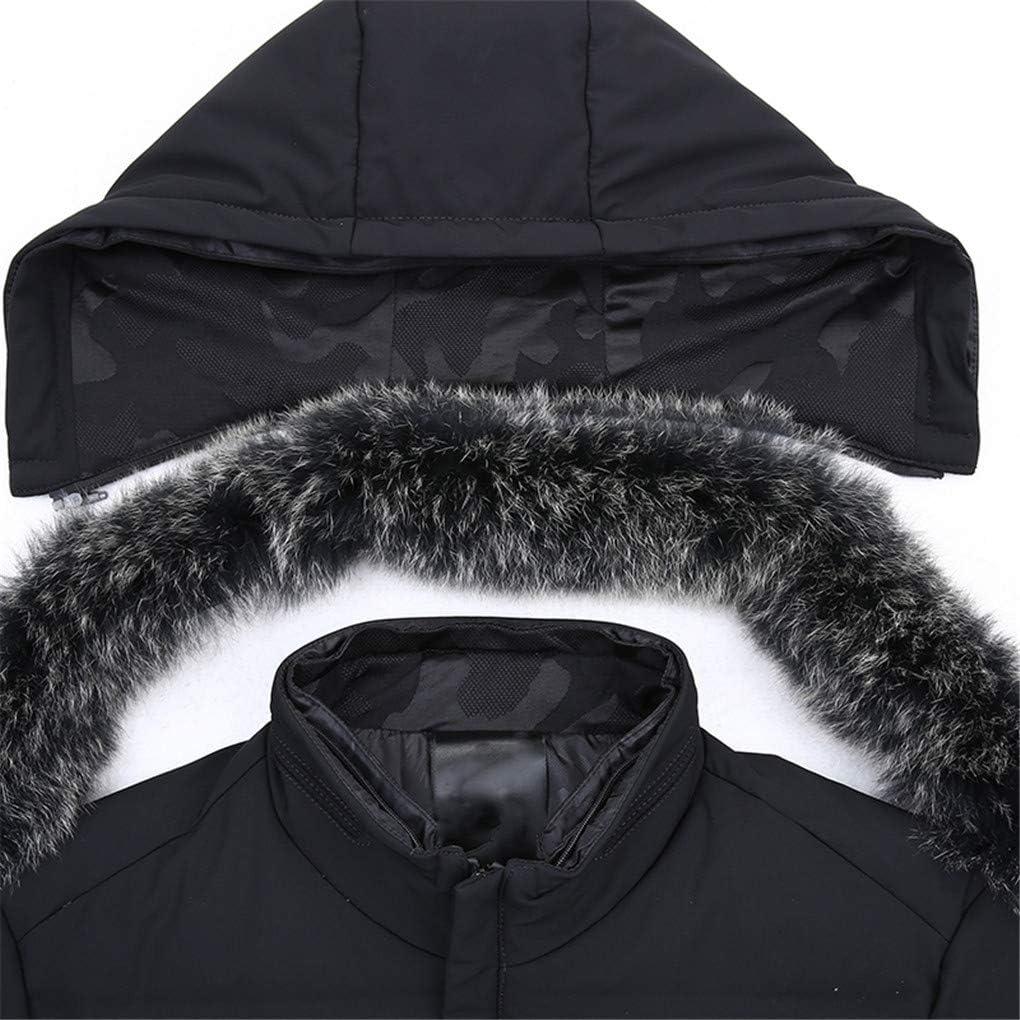 80% Duvet de Canard Blanc ¨¤ Capuchon Vestes Veste Hiver Homme Manteau Black