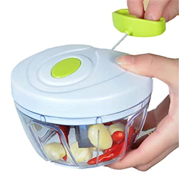 Manual Food Chopper Mini Pull Chopper Food Processor   Hand Held Vegetable  Chopper / Mincer To