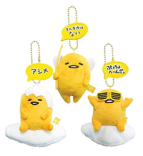 Gudetama mascota cadena de bolas (5) Conjunto de 3 ...