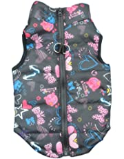 Pet Dog Warm Coat Jacket Puppy Clothes Padded Vest Windproof Clothing (S, Little Black)