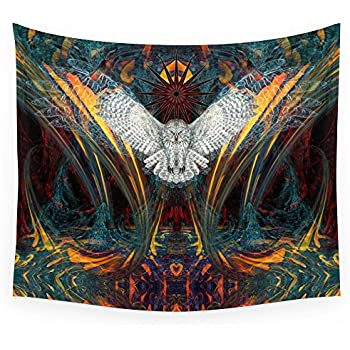 """Society6 The Great Grey Owl Wall Tapestry Small: 51"""" x 60"""""""