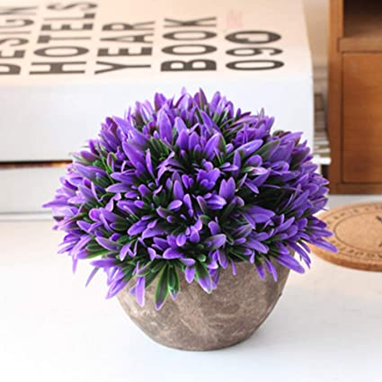 yodaliy Artificial Flower Pot 13.515cm Fake Potted Plants Resistance to Weathering and Corrosion Home Flower & Amazon.com: yodaliy Artificial Flower Pot 13.515cm Fake Potted ...