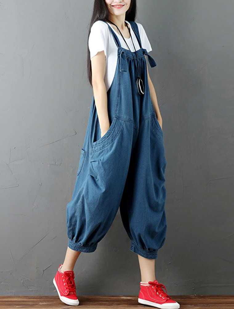 MatchLife Damen Retro Latzhose Herbst Jumpsuits L/ässig Trousers Hose Overalls