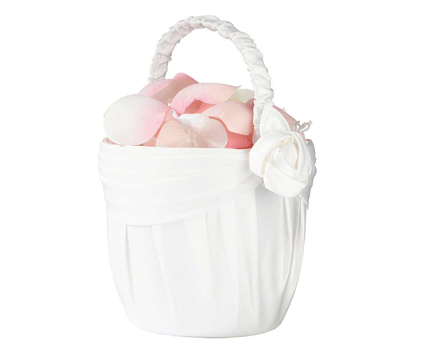 Lillian Rose Elegant Vintage Cream Rose Flower Girl Basket FB160 C