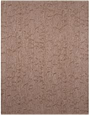 York Wallcoverings HT2025SMP York Textures Bamboo Stripe Wallpaper Memo Sample, 8-Inch x 10-Inch, Mud Brown
