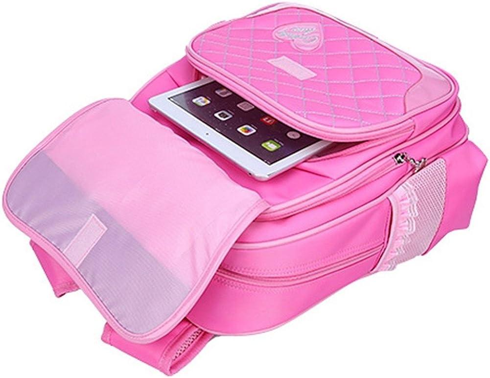 Tisiao Girls Cute Bowknot Book Bag School Backpack Set with Handbag