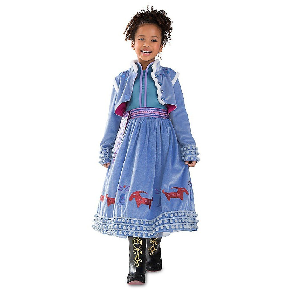DreamHigh Halloween Princess Anna Costume Girl's Dress with Coat 2pcs 10 by DreamHigh (Image #1)