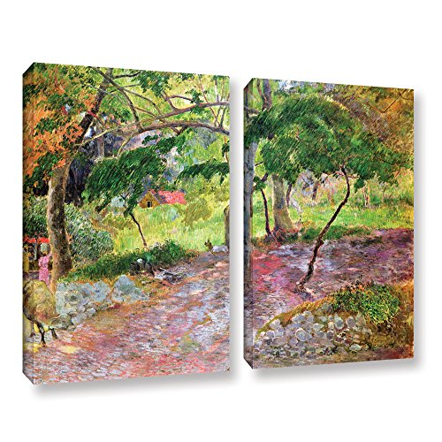 Piece Set 2 Poster - ArtWall Paul Gauguin's Tropical Landscape Martinique 2 Piece Gallery-Wrapped Canvas Set, 24 x 32