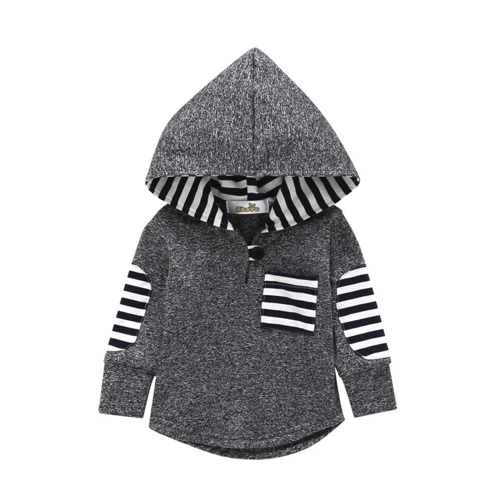 Minisoya Fashion Toddler Baby Girl Boys Plaid Hoodie Pocket Sweatshirt Pullover Hooded Tops Kids Warm Clothes