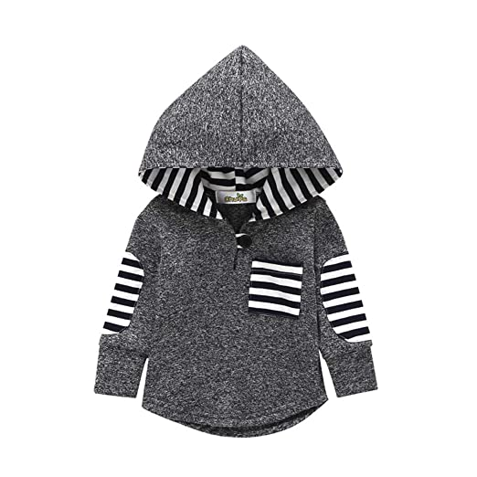 737c15fa4 Amazon.com  Minisoya Fashion Toddler Baby Girl Boys Plaid Hoodie ...