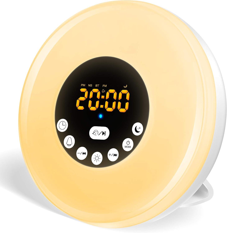 Despertador Swonuk con simulación de amanecer y anochecer + sonidos naturales por sólo 9,99€ usando el #código: YZJCMNBE