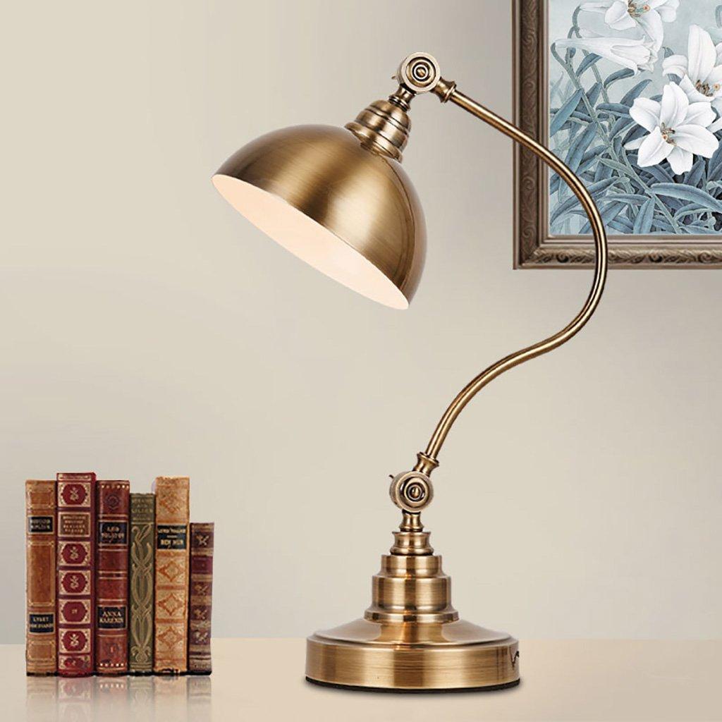 Lampada da tavolo da camera Lampada da tavolo moderna decorativa in ferro battuto da soggiorno camera da letto lampada creativa Lampada da tavolo interruttore lampada a LED (Colore   C)
