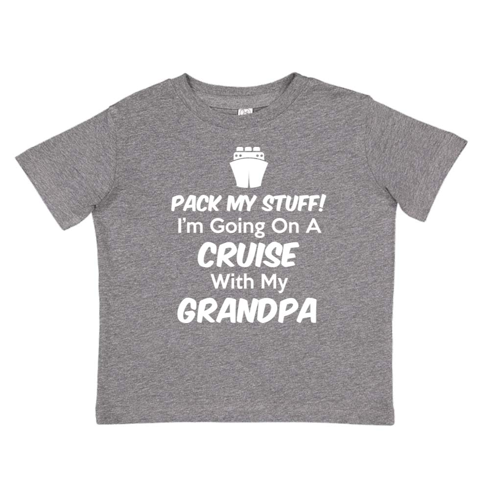 Pack My Stuff Toddler//Kids Short Sleeve T-Shirt Im Going On A Cruise with My Grandpa