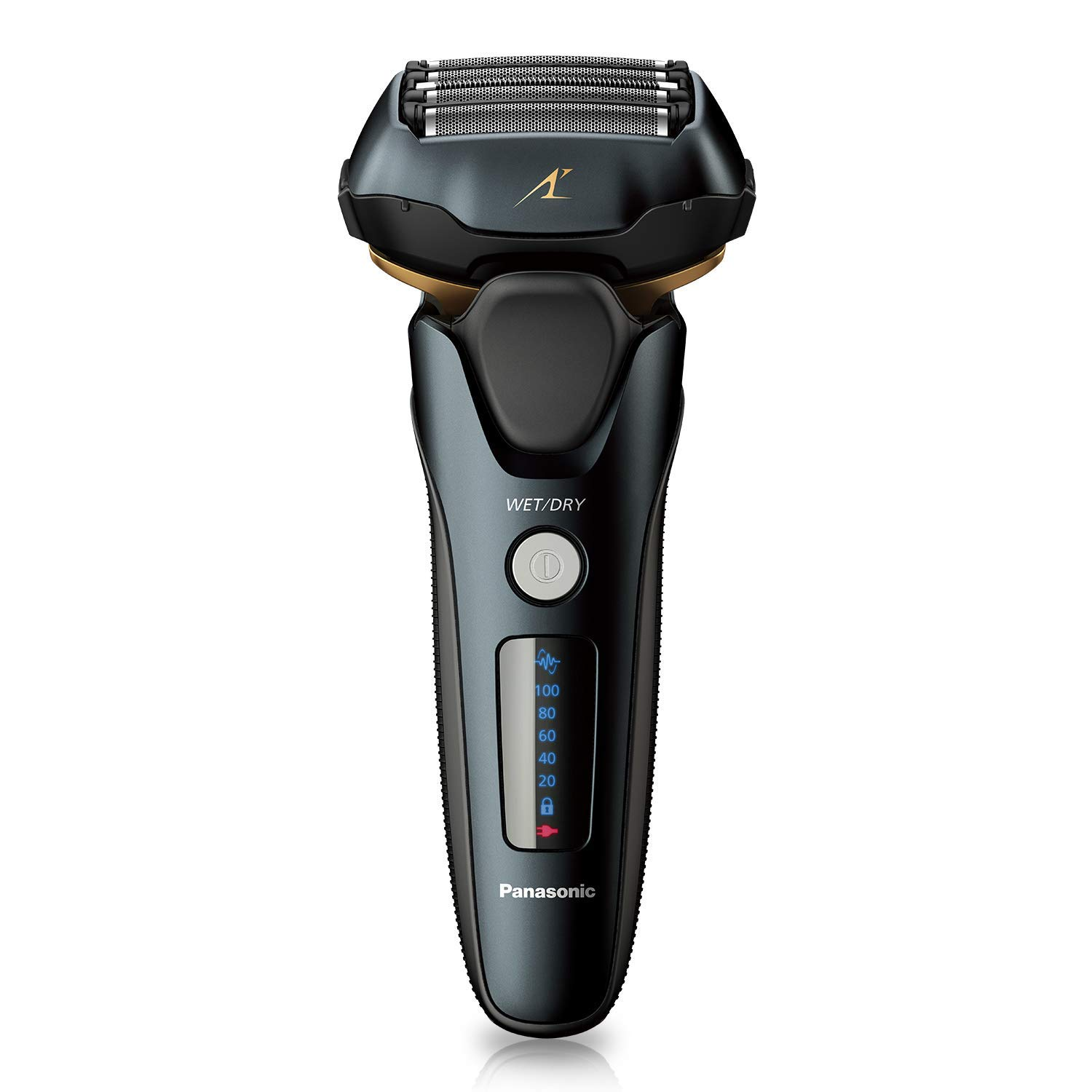 Panasonic Arc5 wet Dry Electric Shaver for Men With Pop-Up Trimmer, 16-D Flexible Pivoting Head Intelligent Shaving Sensor, ES-LV67-K, Black