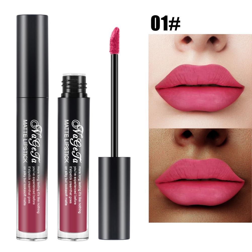 SMILEQ New Lip Lingerie Matte Liquid Lipstick Waterproof Lip Gloss Makeup 24 Shades