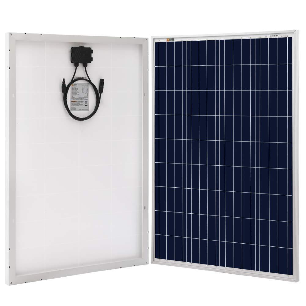 Richsolar 100 Watt Polycrystalline 100W 12V Solar Panel High Efficiency Poly Module RV Marine Boat Off Grid (1pc) by Richsolar