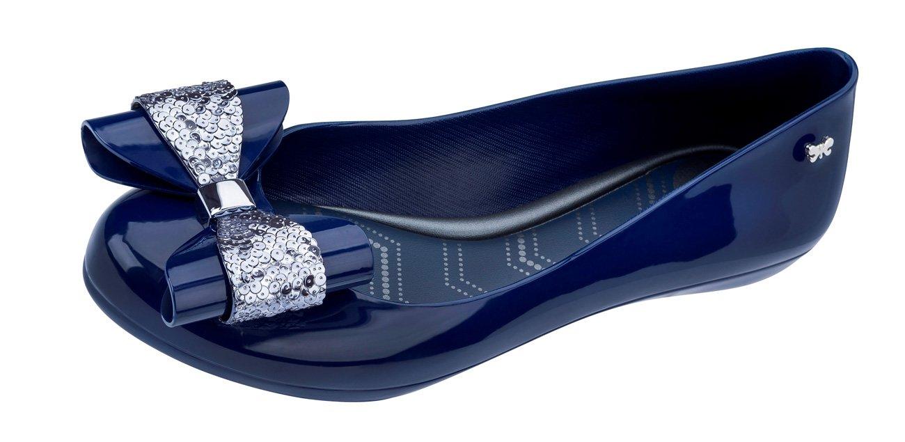 Zaxy Pop Glam Bombas/Zapatos del Ballet de Las Mujeres 35/36 EU|Navy