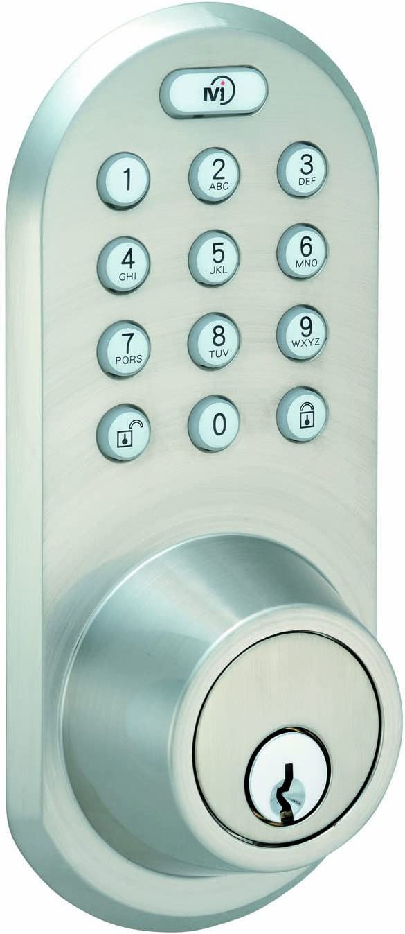MORNING INDUSTRY INC QF-01OB 3-In-1 Remote Control /& Touchpad Dead Bolt Oil Rubbed Bronze
